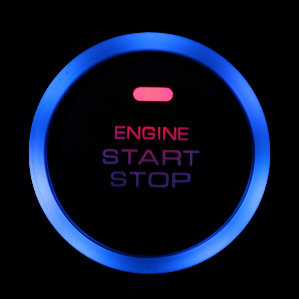 Universal Auto Replacement 12V Keyless Auto Car Engine Start Stop Push Button Entry Ignition Starter Switch