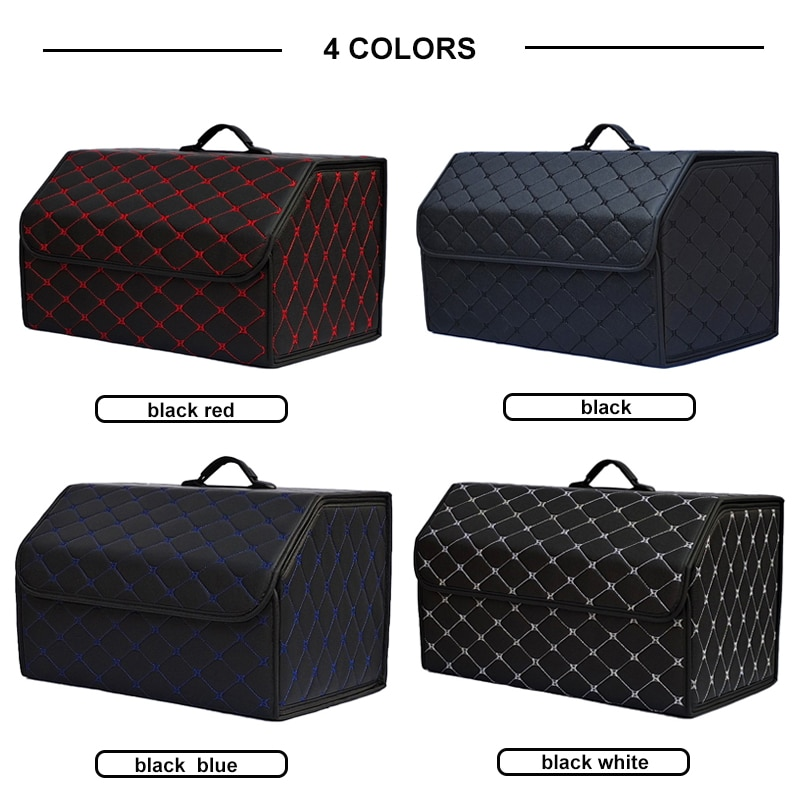 Multipurpose Collapsible Car Trunk Storage Organizer With Lid