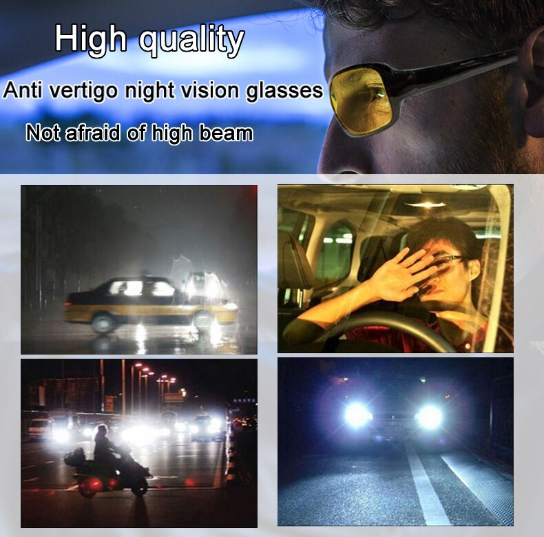 High Quality Day Night Vision Driver's Eyewear Anti Car Reflective Glass Driving Glasses Sunglasses Anti-Glare Driving Glasses