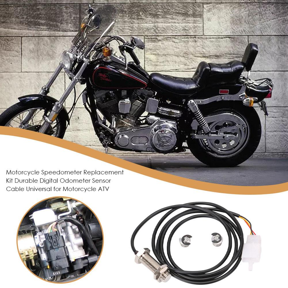 Motorcycle Odometer Sensor Cable Scooter Durable Digital Speedometer Magnetic Sensor Replacement Kit With 2 Magnets