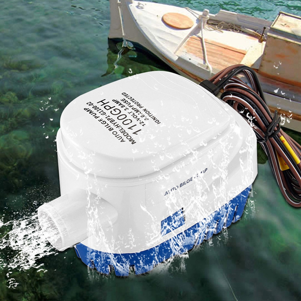 Automatic Submersible Boat Bilge Water Pump 12/24V 1100GPH Auto with Float Switch